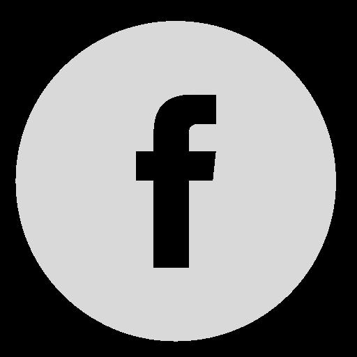 Circle, Facebook, Gray Icon