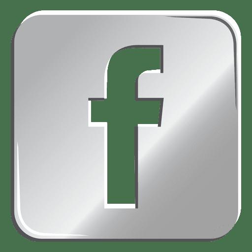Transparent Facebook Gray Logo Png Images