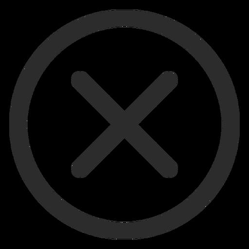 Cross Check Mark Stroke Icon