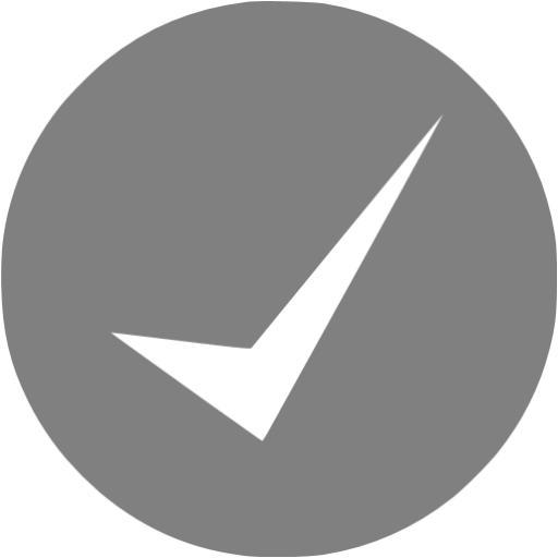 Gray Check Mark Icon