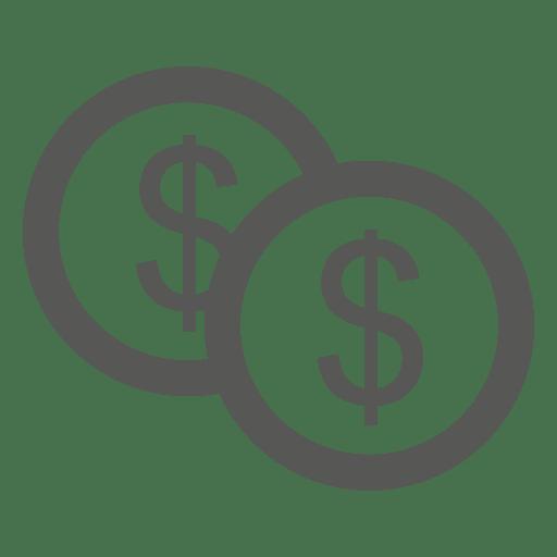 Dollar Coins Flat Icon