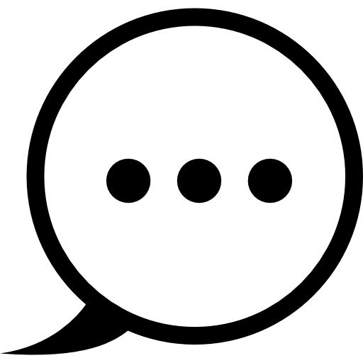 Circular Speech Bubble With Three Dots Inside Icons Free Download
