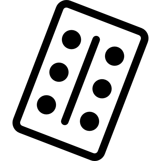 Domino Piece With Six Dots Icons Free Download
