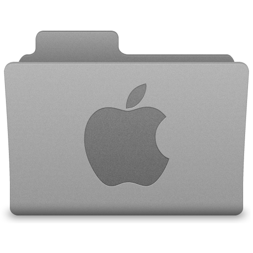 Grey Apple Folder Icon