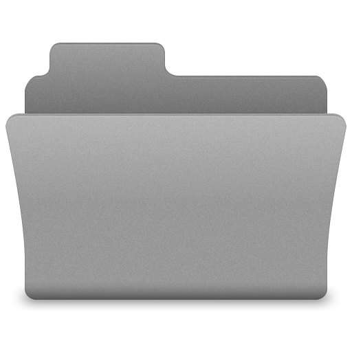 Grey Open Folder Icon