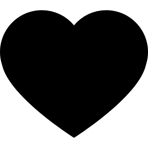 Heart Black Shape For Valentines Icons Free Download