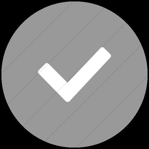 Flat Circle White On Light Gray Broccolidry Checkmark Icon
