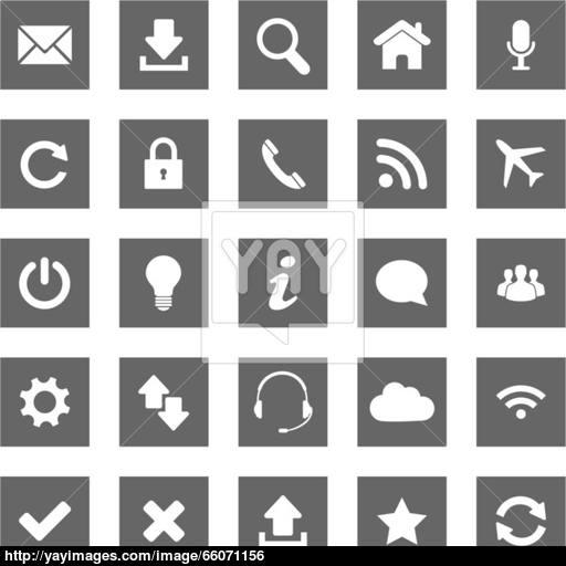 Grey Web Icons Vector