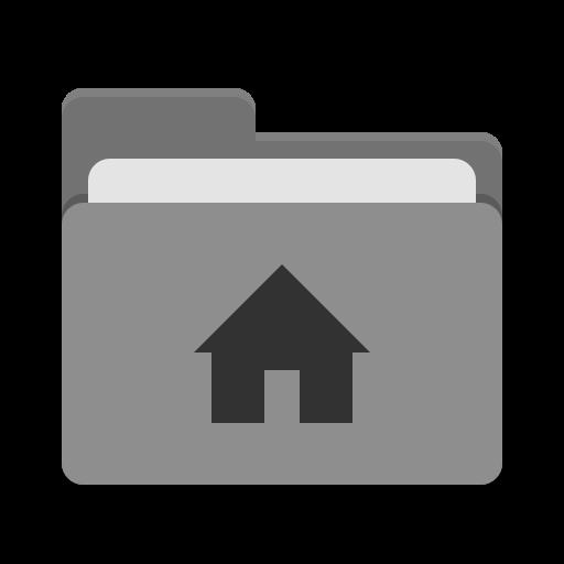 User Grey Home Icon Papirus Places Iconset Papirus Development