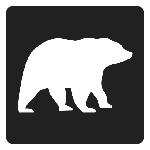 Simple Bear Square Icon