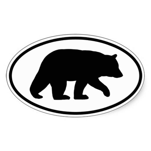 Bear Silhouette Black Bear Silhouette Sticker