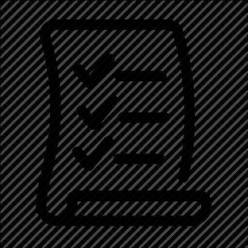 Checklist, Checkmark, Document, File, Grocery, List, Todo Icon
