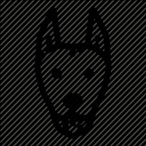 Doberman Vector Logo Transparent Png Clipart Free Download