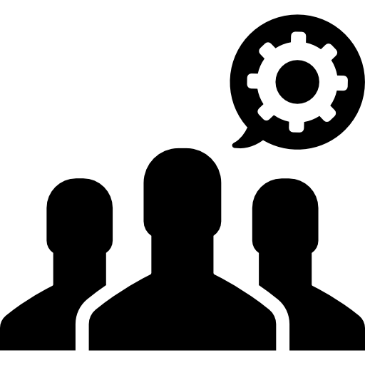 People Working Black Icon
