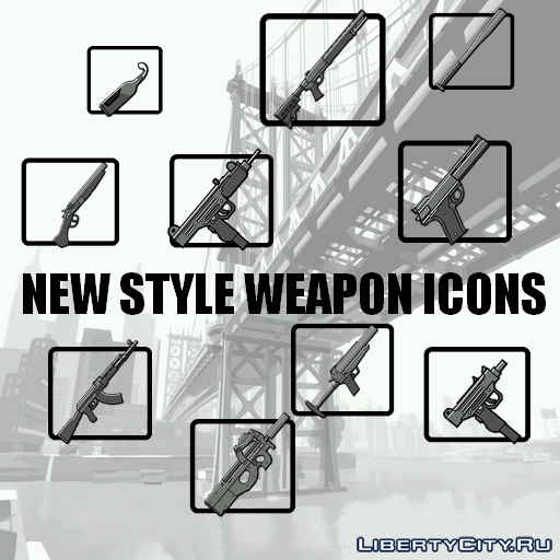 New Style Weapon Icons Dlia Gta