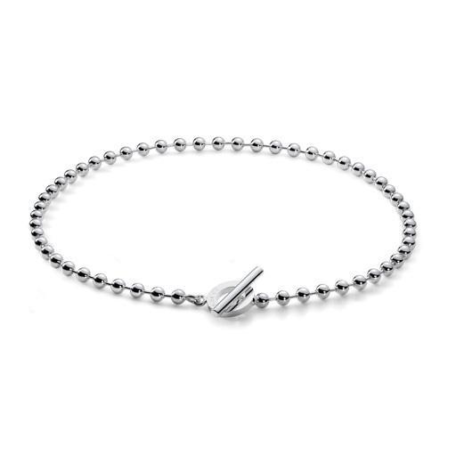 Gucci Boule Silver Beaded T Bar Necklace Hugh Rice
