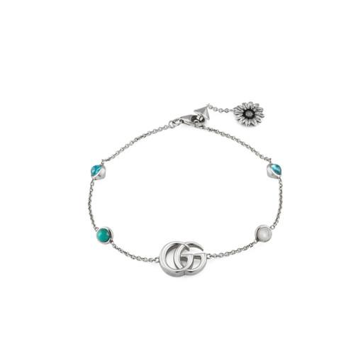 Gucci Double G Silver, Mother Of Pearl Topaz Bracelet Hugh Rice