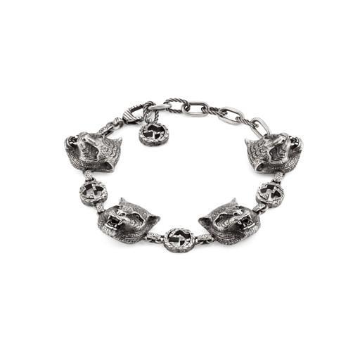 Gucci Garden Silver Feline Interlocking G Bracelet Hugh Rice