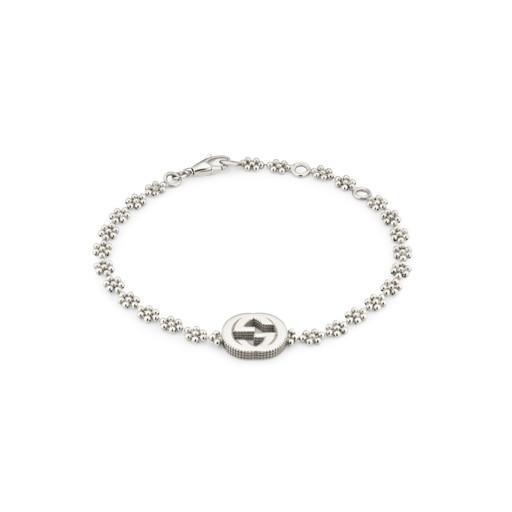 Gucci Trademark Rhodium Coated Chunky Heart Bracelet Hugh Rice