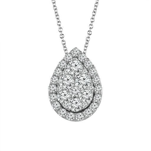 White Diamond Ladies Pendant