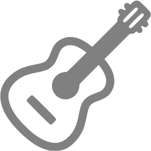 Gray Guitar Icon