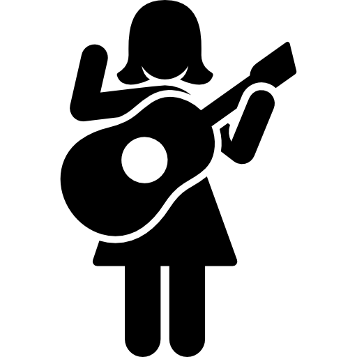 Woman Playing Guitar Icons Free Download