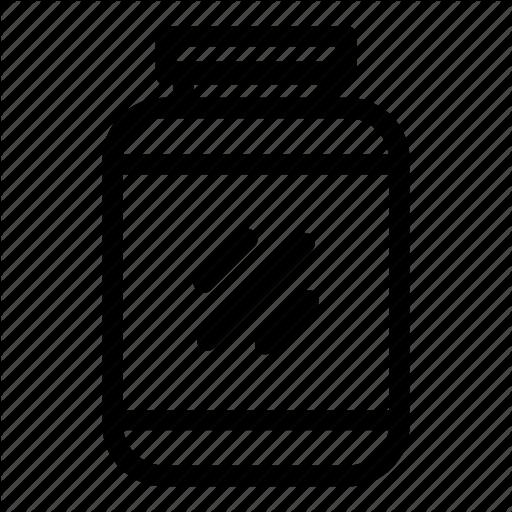Fitness, Gym, Powder, Protein Jar, Whey Icon