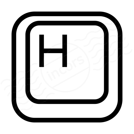 Iconexperience I Collection Keyboard Key H Icon