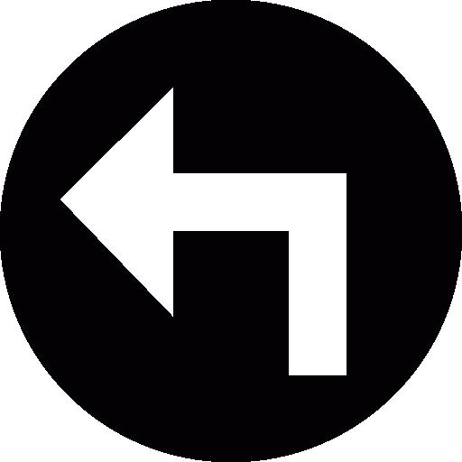 Turn Left Circle Icons Free Download