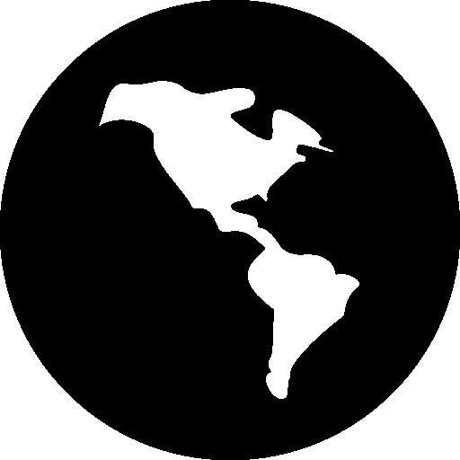 Dark Earth Globe Symbol Of International Business Icons Free