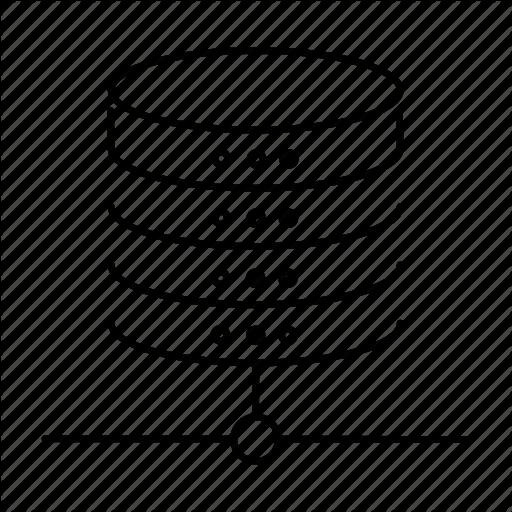 Database, Hadoop, Hosting, Neural Network Icon