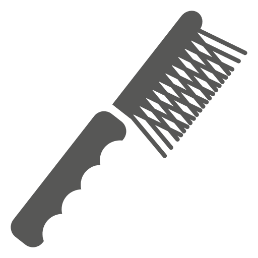 Smooth Teeth Hair Brush Icon