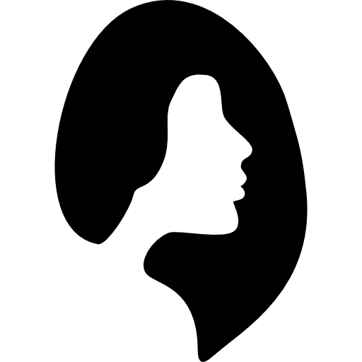 Female Hair Salon Symbol Icons Free Download