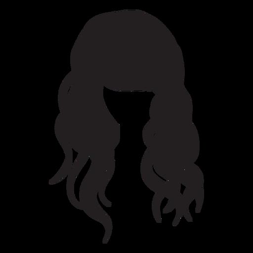Beach Waves Hair Flat Icon