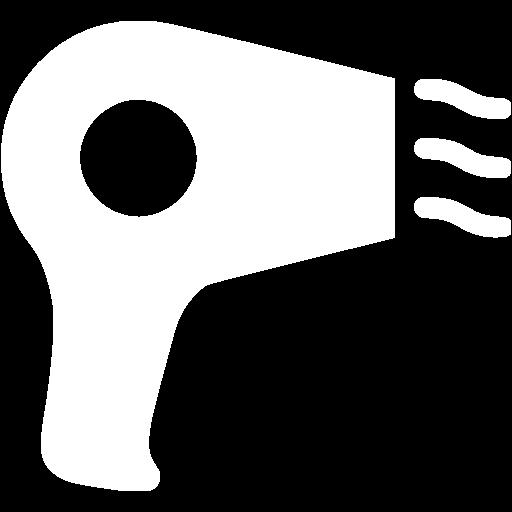 White Hair Dryer Icon
