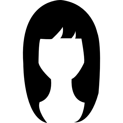 Woman Dark Long Hair Shape Icons Free Download