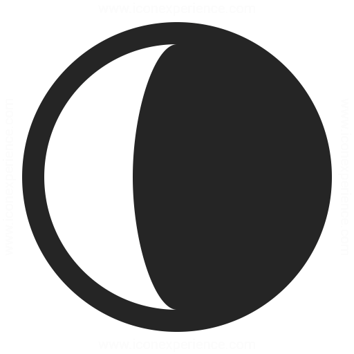 Moon Half Icon Iconexperience