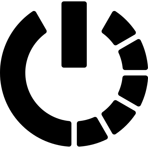 Power Symbol Variant With Half Circle Of Broken Line Png Icon