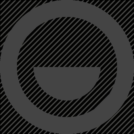 Circle, Design, Graphic, Half, Interface Icon