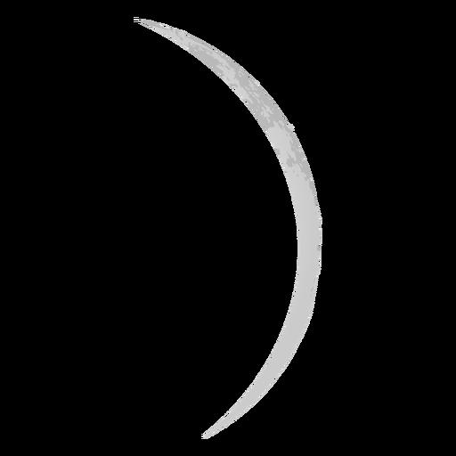 Thin Crescent Moon Realistic Icon