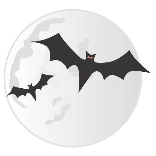 Bats Moon Icon Halloween Iconset Css Creme