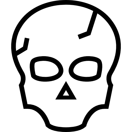 Skull Outline Of Halloween Icons Free Download