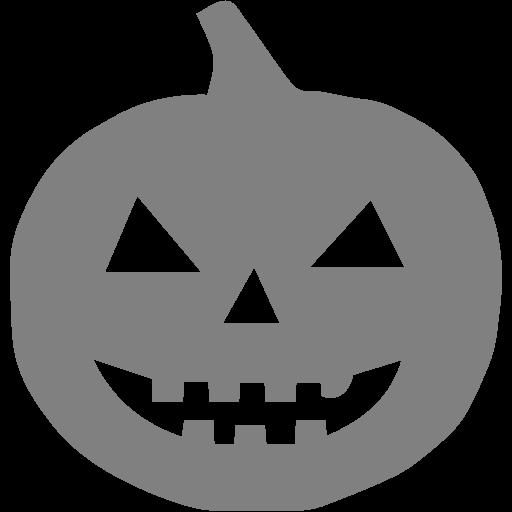 Gray Halloween Pumpkn