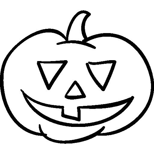 Halloween Pumpkin Head Outline