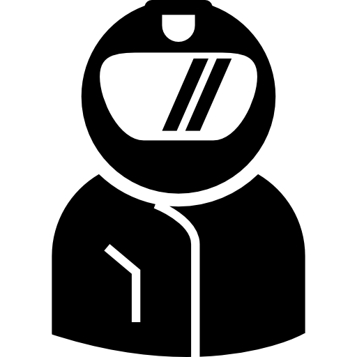 Motorcyclist With Helmet Covering His Head Icon Humans Freepik