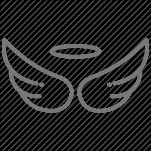 Angel, Death, Halo, Memorial, Spirit, Wings Icon