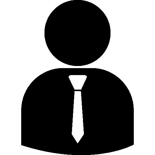 Business Person Silhouette Wearing Tie Icon Humans Freepik