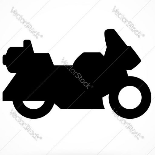 Cropped Touring Motorcycle Icon Vector Motorcycling