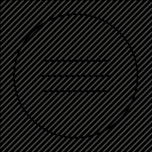 Circle, Hamburger Menu, List, Menu, Mobile Nav, Nav, Navigation Icon
