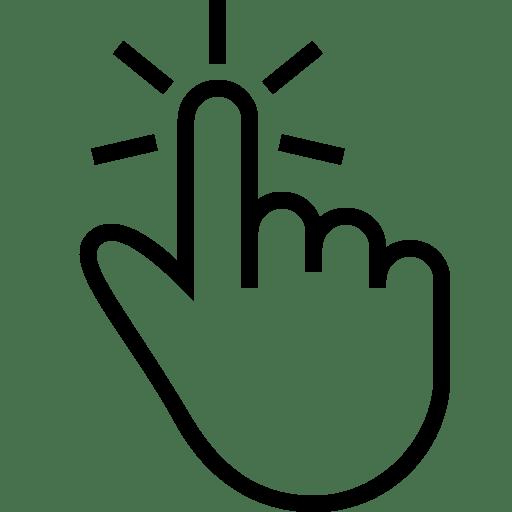 Click Hand Tap Transparent Png